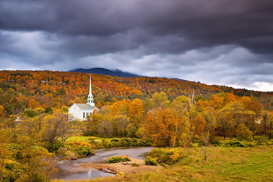 church-in-fall